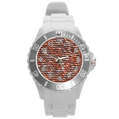 Roof Tiles On A Country House Round Plastic Sport Watch (l)