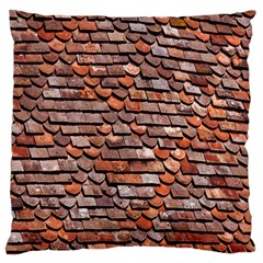 Roof Tiles On A Country House Large Cushion Case (Two Sides)