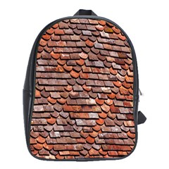 Roof Tiles On A Country House School Bags (xl)