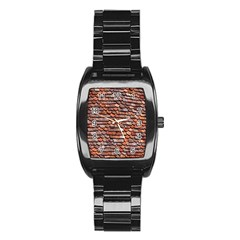 Roof Tiles On A Country House Stainless Steel Barrel Watch
