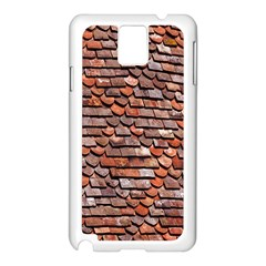Roof Tiles On A Country House Samsung Galaxy Note 3 N9005 Case (White)