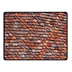 Roof Tiles On A Country House Double Sided Fleece Blanket (small)