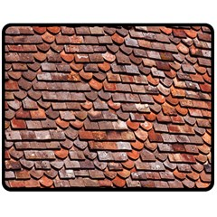 Roof Tiles On A Country House Double Sided Fleece Blanket (medium)