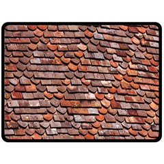Roof Tiles On A Country House Double Sided Fleece Blanket (Large)