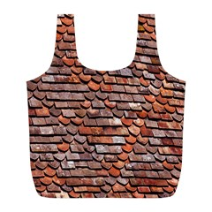 Roof Tiles On A Country House Full Print Recycle Bags (l)