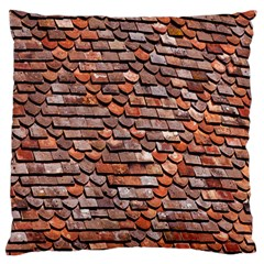 Roof Tiles On A Country House Large Flano Cushion Case (two Sides)