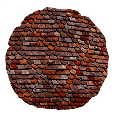 Roof Tiles On A Country House Large 18  Premium Flano Round Cushions