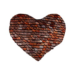 Roof Tiles On A Country House Standard 16  Premium Flano Heart Shape Cushions