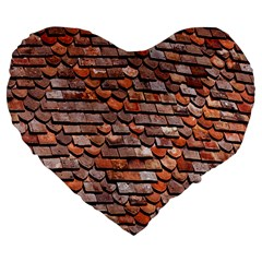 Roof Tiles On A Country House Large 19  Premium Flano Heart Shape Cushions
