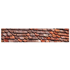 Roof Tiles On A Country House Flano Scarf (small)