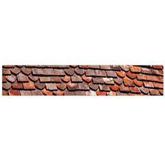 Roof Tiles On A Country House Flano Scarf (large)
