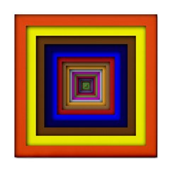 Square Abstract Geometric Art Tile Coasters