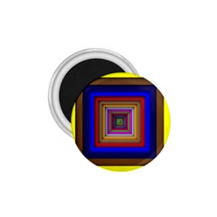 Square Abstract Geometric Art 1 75  Magnets