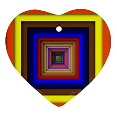 Square Abstract Geometric Art Ornament (heart)