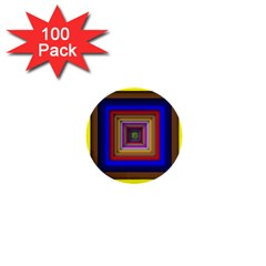 Square Abstract Geometric Art 1  Mini Buttons (100 pack)