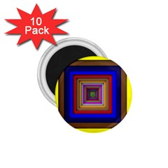 Square Abstract Geometric Art 1 75  Magnets (10 Pack)