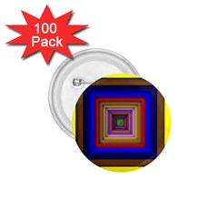 Square Abstract Geometric Art 1 75  Buttons (100 Pack)