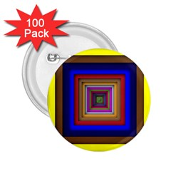 Square Abstract Geometric Art 2 25  Buttons (100 Pack)