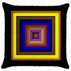 Square Abstract Geometric Art Throw Pillow Case (Black)