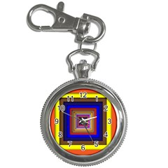 Square Abstract Geometric Art Key Chain Watches