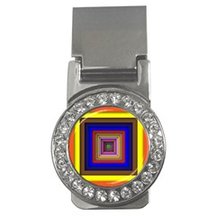 Square Abstract Geometric Art Money Clips (CZ)