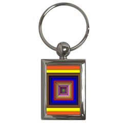 Square Abstract Geometric Art Key Chains (Rectangle)