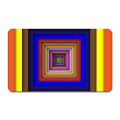 Square Abstract Geometric Art Magnet (Rectangular)