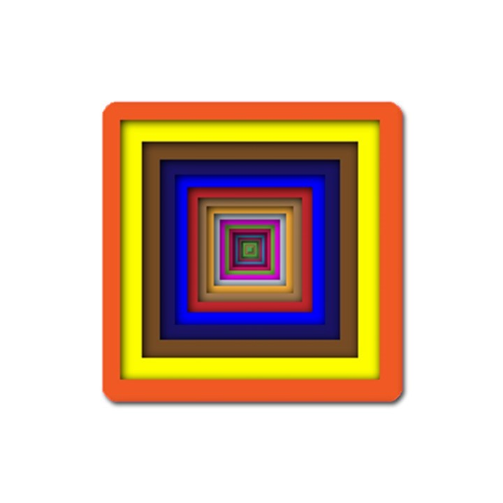 Square Abstract Geometric Art Square Magnet