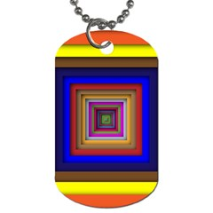 Square Abstract Geometric Art Dog Tag (one Side)
