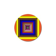 Square Abstract Geometric Art Golf Ball Marker