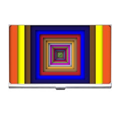 Square Abstract Geometric Art Business Card Holders