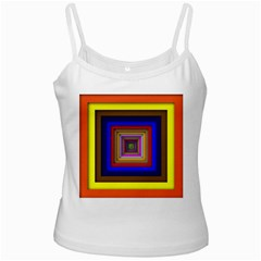 Square Abstract Geometric Art Ladies Camisoles