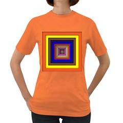 Square Abstract Geometric Art Women s Dark T Shirt