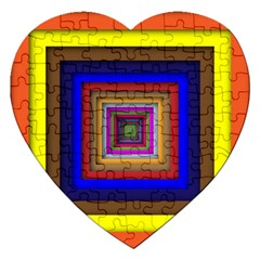 Square Abstract Geometric Art Jigsaw Puzzle (heart)