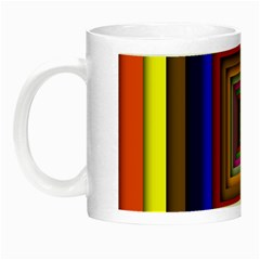 Square Abstract Geometric Art Night Luminous Mugs