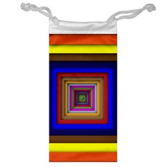 Square Abstract Geometric Art Jewelry Bag