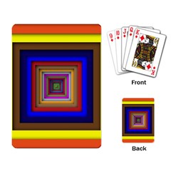 Square Abstract Geometric Art Playing Card