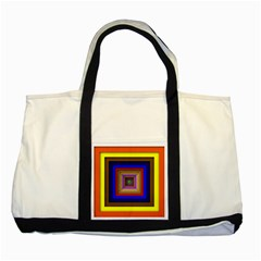 Square Abstract Geometric Art Two Tone Tote Bag