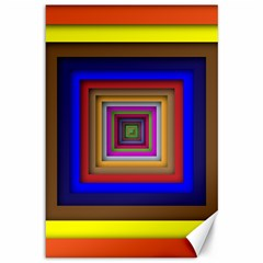 Square Abstract Geometric Art Canvas 12  x 18
