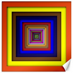 Square Abstract Geometric Art Canvas 16  X 16