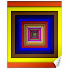 Square Abstract Geometric Art Canvas 16  X 20