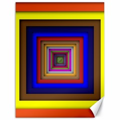 Square Abstract Geometric Art Canvas 18  X 24