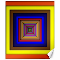 Square Abstract Geometric Art Canvas 20  x 24
