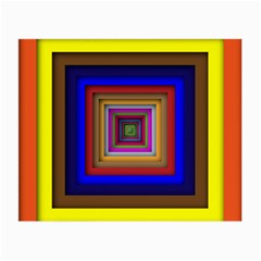 Square Abstract Geometric Art Small Glasses Cloth (2 Side)