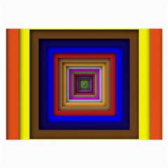 Square Abstract Geometric Art Large Glasses Cloth (2-Side)
