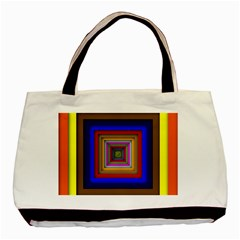 Square Abstract Geometric Art Basic Tote Bag (two Sides)