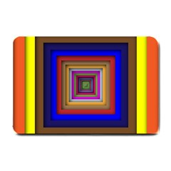 Square Abstract Geometric Art Small Doormat