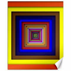 Square Abstract Geometric Art Canvas 11  X 14
