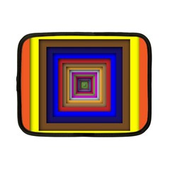 Square Abstract Geometric Art Netbook Case (small)