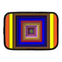 Square Abstract Geometric Art Netbook Case (medium)